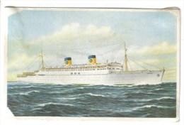 """2 CPSM TRANSPORT BATEAU PAQUEBOT - Paquebot """"S/S Homeric"""" Home Lines, Publicité Messageries Maritimes - Barche"""