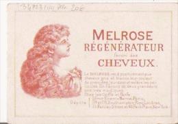 CARTE PARFUMEE CHROMO ANCIENNE MELROSE REGENERATEUR FAVORI DES CHEVEUX - Perfume Cards