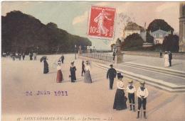 23378 Saint Germain En Laye -lot 8 Cpa Parterre Avenue Gambetta Entree Pavillon Henri Terrasse Perspective Torrent