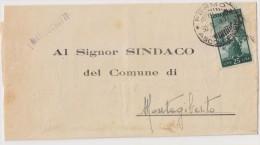 1949 TARIFFA MANOSCRITTI L.25 DEMOCRATICA ISOLATO - 6. 1946-.. Repubblica