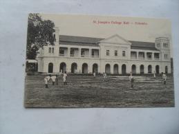 Sri Lanka Ceylon Ceylan Joueur Cricket Saint Joseph College Hall Colombo - Sri Lanka (Ceylon)