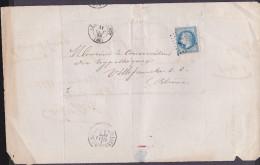 France - Lettre N° 22 Obl 1868 - Cachets: GC 511 / Le Bois D´Oingt / Villefranche Sur Saone - 1849-1876: Klassik
