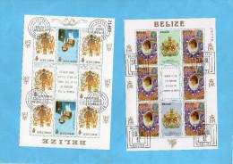 BELIZE    -6 Blocs-hommage 21th Birthday-princesse Diana+prince Charles Années 81-82 Très Bel état - Belize (1973-...)