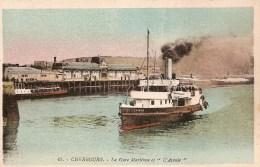 Cpa Cherbourg Gare Maritime  L'Avenir  ( Ref 375 ) - Cherbourg