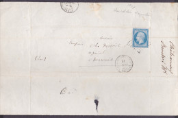 France - Lettre N° 14 Obl 1858 - Cachets: PC 788 / Chateauneuf En Thymerais / - 1849-1876: Classic Period