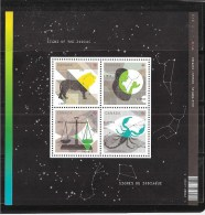 Canada, 2012, #2446,  MNH, Astrologie, Astrology,  Signes Du Zodiaque:  SS Of Libra, Virgo, Leo  &  Scorpion - Blocs-feuillets
