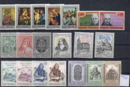VATICANO 6 Serie 1971/73 MNH - Collezioni