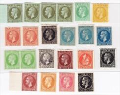 1872 - Prince Carol  - 22 Probedrücke - - Ensayos & Reimpresiones