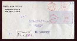 France, Frankreich, 1975,   Freistempel, Cover, Brief - Marcophilie (Lettres)