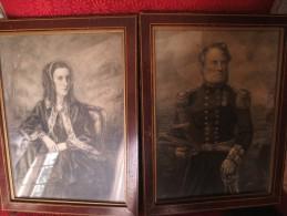 2 Antique  Pictures  Framed By Aitken Dott & Son Edinburgh VOIR PHOTOS - Prenten & Gravure