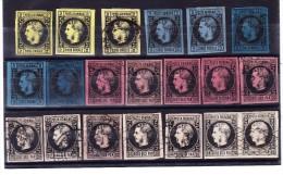 1866/67 Auswahl Von 20 Marken Prinz Carol Gebraucht Und Ungebraucht - - Roumanie