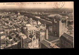 11 NARBONNE Vue Générale, Tours De L'Hotel De Ville, Cachet 80è Régiment Infanterie, Ed LL 3, 1915 - Narbonne