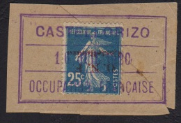 Vari�t� semeuse 25c bleu - Castellorizo - Cachet Occupation fran�aise non identifi�