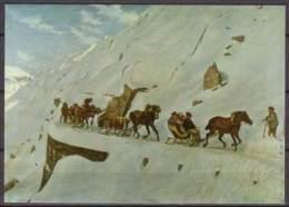Gotthard - Schlittenpost ,  Jacot - Guillarmod , 1873 Gotthard , Originalbild Im Schweizerischen PTT - Museum , Bern - Post & Briefboten