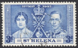 St. Helena, 3 P. 1937, Sc # 117, Mi # 96, Used - Saint Helena Island
