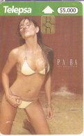 TARJETA DE COLOMBIA DE UNA CHICA SEXI (EROTICA-NUDE) WOMAN (TELEPSA) - Erotismo (Adulti)