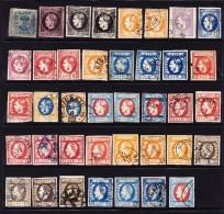 Auswahlsammlung Von 39 Marken Carol I Verschiedenen Farbnuancen/Stempel - Oblitérés
