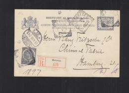 Nederlands-Indie R-Briefkaart Malang 1905 - Indes Néerlandaises