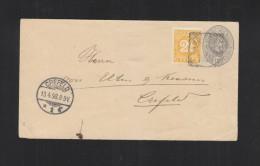 Nederlands-Indie Brief 1898 Via Singapore Crefeld - Niederländisch-Indien