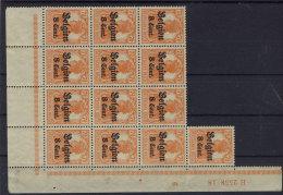 Deutsche Post Belgien Michel No. 13 b ** postfrisch Bogenteil HAN