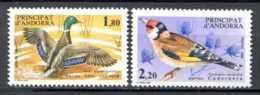 ANDORRE FRANCAIS   FRENCH ANDORRA   1985  .  Yvert 342/343   Michel 363/364    Birds   Oiseaux   Vögel   Duck   Canard - Neufs