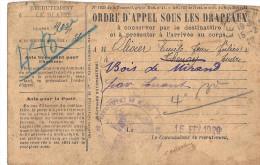 Cpp 36 LE BLANC Ordre D'appel Drapeaux Adr A Une Loge De Charbonnier En Forêt  Bois De Miraud Par LUANT - Le Blanc