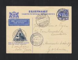 Nederlands-Indie Briefkaart 1934 Solo Uiver Luchtpost - Niederländisch-Indien
