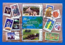 MOLDOVA - 2003. 10 Years EUROPA CEPT, S/S, Used FDC - Moldavia