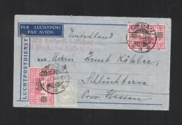 Nederlands-Indie Brief 1933 Medan Duitsland Luchtpost - Niederländisch-Indien