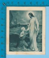 Paris B.L. ZF Serie 1 ( Jesus Marche Sur Les Eaux  + Recit  ) Holy Card Image Pieuse Santino 2 Scan - Images Religieuses