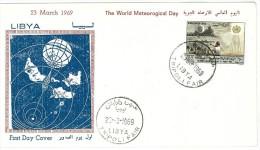 LIBIA - LIBYA - FDC - 1969 World Meteorological Day - Libya