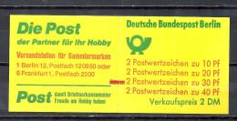 Deutschland Berlin Markenheftchen 1974 Unfallverhütung MH 9 C I MZ ** Roter Zählbalken Weiter Durchstich Top Qualität - [5] Berlin