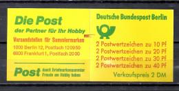 Deutschland Berlin Markenheftchen 1974 Unfallverhütung MH 9 D I ** MZ Mit Rotem Zählbalken Enger Durchstich Top Qualität - [5] Berlin