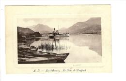 LAC D´ANNECY, Le Pont De Doufsard Avec Un Bateau - Annecy