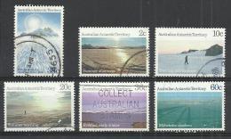 A.A.T. AUSTRALIAN ANTARCTIC TERRITORY 1986-1987 - LANDSCAPES - DEFINITIVES - CPL. SET - USED OBLITERE GESTEMPELT USADO - Australian Antarctic Territory (AAT)