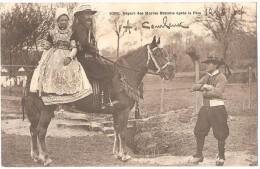 Dépt 29 - Départ Des Mariés Bretons Après La Fête (folklore) - France
