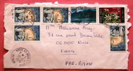 Lettre De Tahiti Papeete Vers La France, 1976, Par Avion, 3 Timbres / Photos Recto Verso - Tahiti