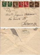 LUOGOTENENZA IMPERIALE BELLA AFFRANCATURA MISTA TRICOLOR 1945 FIRENZE X SIRACUSA - 5. 1944-46 Lieutenance & Umberto II