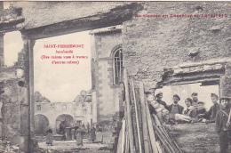 23405 SAINT PIERREMONT  Bombardé Ruines Vues Travers Autres Ruines -guerre Lorraine 1914- 1915 -ed Bastien -tampon - Guerre 1914-18