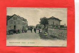 AVRICOURT  DEUTSCH   1918  LA  FRONTIERE AVEC COMMERCES  CIRC  OUI   EDIT - France