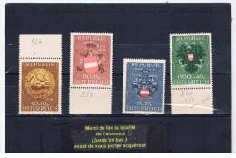 Autriche:serie  4 Timbres 1945 - 1945-.... 2. Republik