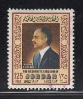 Jordan Used Scott #1144 125f King Hussein - Jordanie