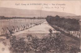 Carte Postale Ancienne - Camp D Sathonay - Vue D'ensemble - Cachet Militaire Au Dos - Casernas