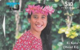 COOK ISL.(GPT) - Ei Katu/Tipani, CN : 02CIC, Tirage 10000, Used - Cookeilanden