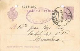 7506. Entero Postal VITORIA 1927. Alfonso XIII Vaquer, Num 57n - Enteros Postales