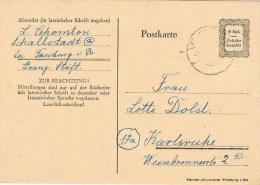 7517. Tarjeta SCHALLSTADT (Alemania) 1946. Gebühr Bezahlt. Port Payé - Zona Anglo-Américan
