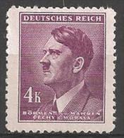 1942 4k Hitler, Mint Light Hinged - Unused Stamps