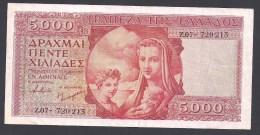GRECE - 5000 Drachmai - ( 1945 ) - Pick N° 173 - 170 Mm X 84 Mm - Très Rare - Griechenland