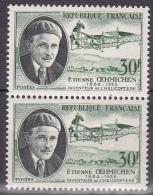 N° 1098 Savants Et Inventeurs: Etienne Oehhminchen Inventeur De L´Hélicoptère: Une Paire 2  Timbres - Unused Stamps