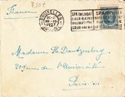 A27 - Enveloppe De 1927 Avec Flamme Spa - Cob 207 - Belgium
